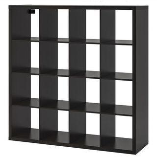 🚚 Kallax 4 x 4 Black Brown Cube Display/Storage Cabinet