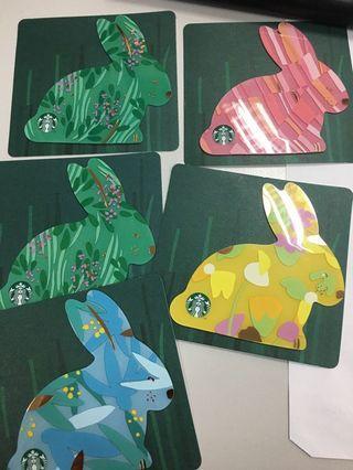 Starbucks bunny card
