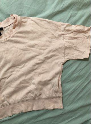 forever 21 pink boxy crop tshirt