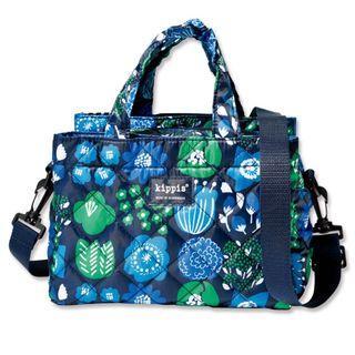 【全新新品嘗鮮價】 日本 雜誌附錄 kippis 滿版 花朵 空氣包 斜背包 可當媽媽包 外出包 手提包 提袋