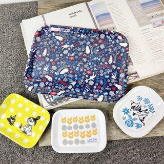 🚚 【全新新品嘗鮮價】【4件組】日本 雜誌附錄 北歐 moomin 慕敏 小物盤 餐盤 水果盤 盤子 收納盤