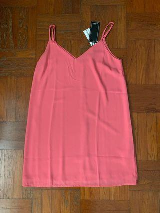 Cotton On Slip Dress in Coral