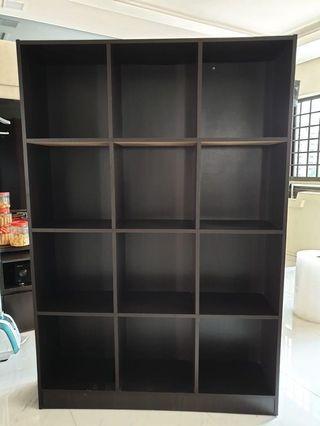 🚚 3 x 4 Dark Walnut Cube Cabinet Display/Storage