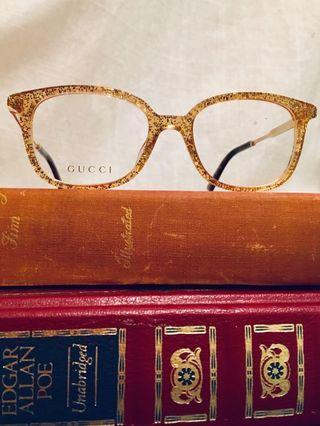 Gucci Gold Sparkle Frames GG0202