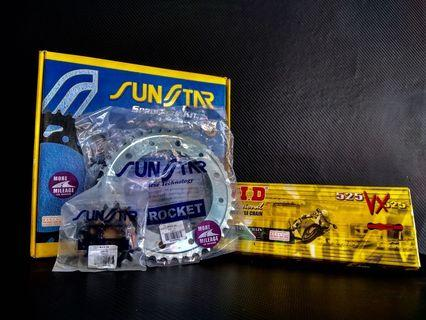 spocket & chain set DID Sunstars japan for bmw gs f800gs