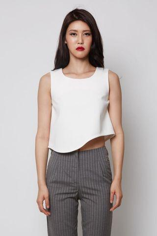 Clearance!! MDS Jamila Crop Top White M