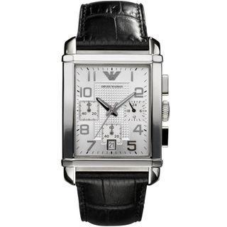 Emporio Armani Classic Chronograph Silver Dial Men's Watch AR0333