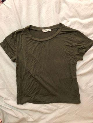 [ FLASH SALE ] cotton on army green baby tee