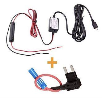 (E1983) SPY TEC DASH CAM HARDWIRE FUSE KIT WITH MICRO USB DIRECT HARDWIRE CAR CHARGER CABLE KIT FOR DASH CAMERAS (MICRO USB AND FUSE KIT)