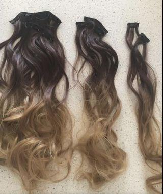 7pc Brand New Hair Extensions