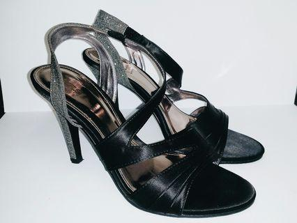 Ars Sutoria Glitter Heels- Black