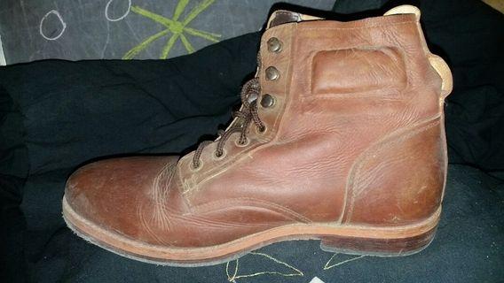 #BAPAU Sepatu boots kulit murah
