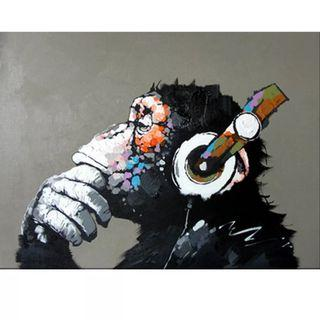 Art Therapy | DIY Painting By Number | Headphone Ape | Frameless/Canvas + Paints Only