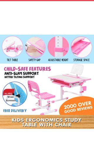 Children Ergonomics Study Table and chair