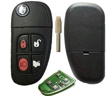 (E1984) Replacement 4Button Flip Remote car key fob FULL 433mhz romote with blade