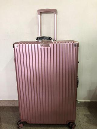 30inch rose gold pink luggage