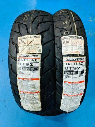 Tayar bridgestone battlax bt-92 made in JAPAN 150/60-17 dan 110/70-17