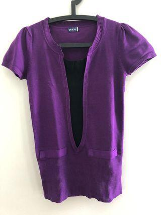 Knitted Purple Top (Preloved)