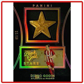 2016 Panini Black Gold Soccer Diego Godín Stars Medallion Holo Gold Parallel 49/50