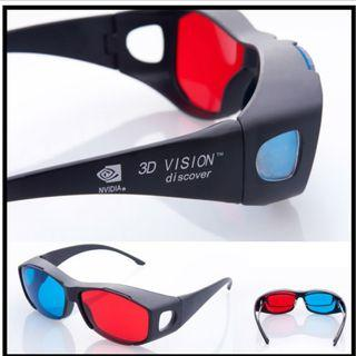 2018 NEW Fashion Universal type 3D glasses/Red Blue Cyan 3D glasses Anaglyph 3D Plastic glasses for PC