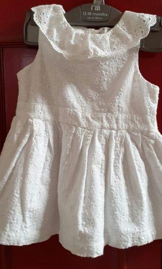 White dress baby
