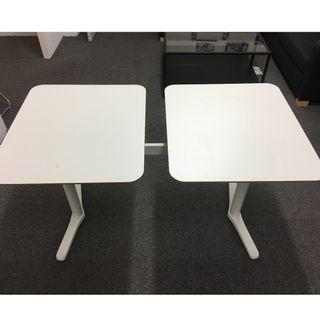 IKEA BILLSTA TABLE WITH 2 TOPS (WHITE)
