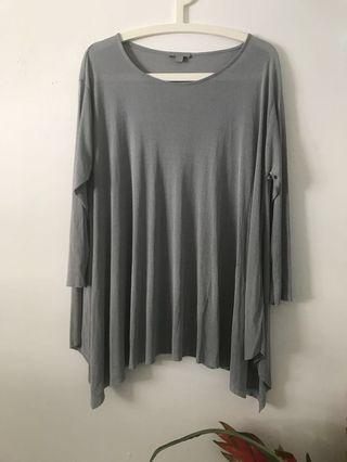 COS Silver Blouse