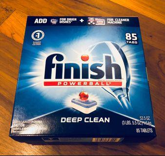Finish All in one dishwasher cleaning tablets. 85 pieces. Brand new