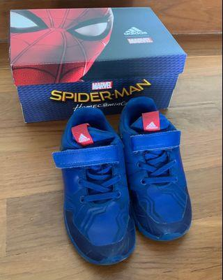 Adidas Spider-Man shoes. US 9.5K. 16cm. Marvel. Track sports