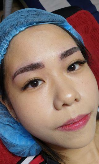 Eyebrows embroidery
