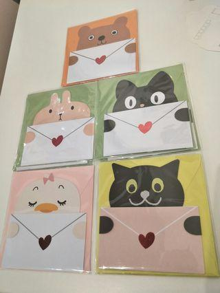 Cute Animals  greetings cards