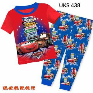Car 95 Short Sleeve Pyjamas for 3 to 7 yrs old