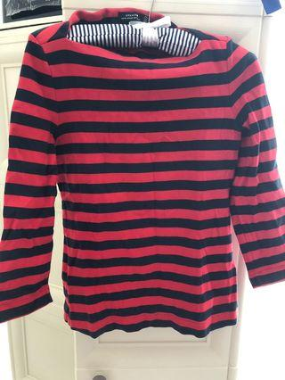 Kate Spade (authentic) Saturday black and white top size S
