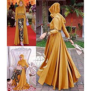 BS 1789 Set Mafaza Batik Mustard