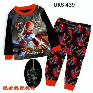 Spiderman Long  Sleeve Pyjamas for 3 to 7 yrs old