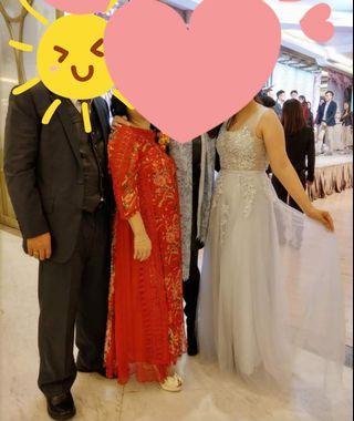 紅色囍慶奶奶外母裙晚裝禮服