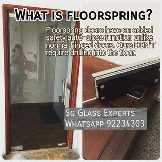 🚚 Auto close safety swing door floorspring door retail