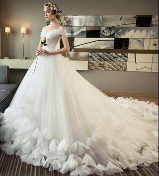 Off Shoulder Wedding Gown for Rent