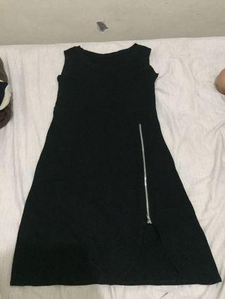 Dress lengan buntung (hitam) #BAPAU