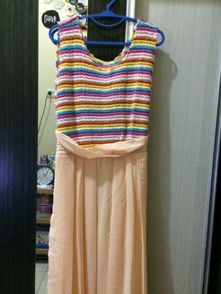 Dress rainbow / gamis pelangi