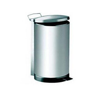 Stainless Steel Dustbin - Round Pedal Litter Bin - RPD-049SS