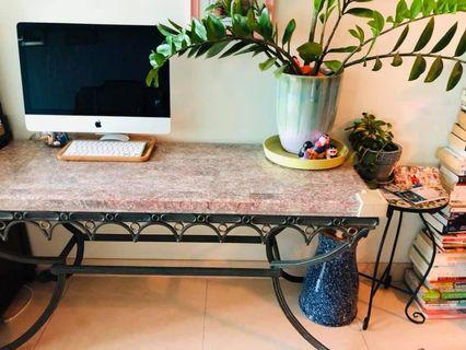 Marble brass console