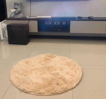 小型圓毯 米白色