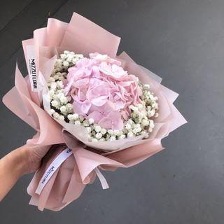 Hydrangea Bouquet | Fresh flower bouquet | Pink hydrangea | Birthday Gift | Anniversary Flower | Graduation Flower | Flower Delivery | 绣球花束| 鲜花运送 |生日花束
