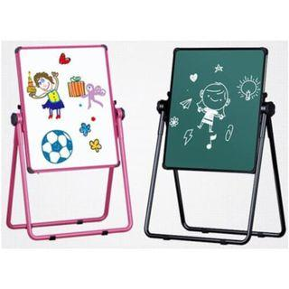 JG/May-167-Oth 2in1 Sketchpad Easel Magnetic Double-Sided Black & White Writing Board