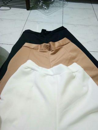 Celana panjang Kulot Wanita/Bahan