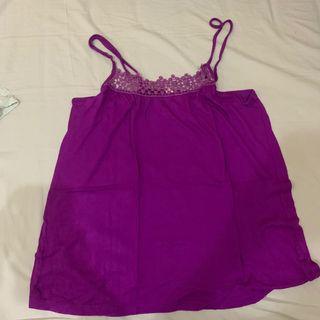 Tank purple tanktop lace ungu