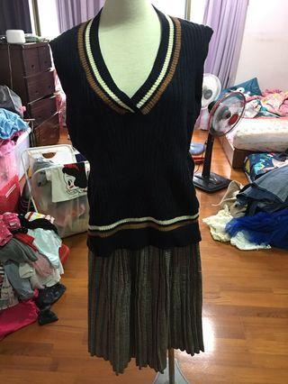 🚚 針織背心毛衣+針織長裙