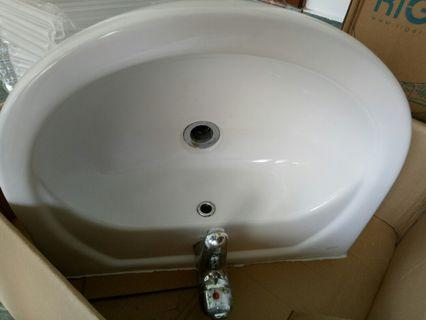 Basin with mixer