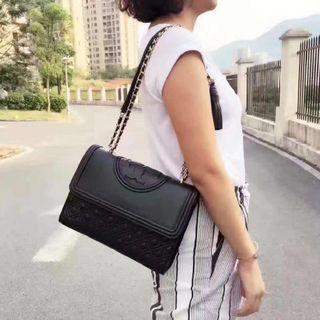 100% Authentic Tory Burch Fleming Convertible Shoulder Bag